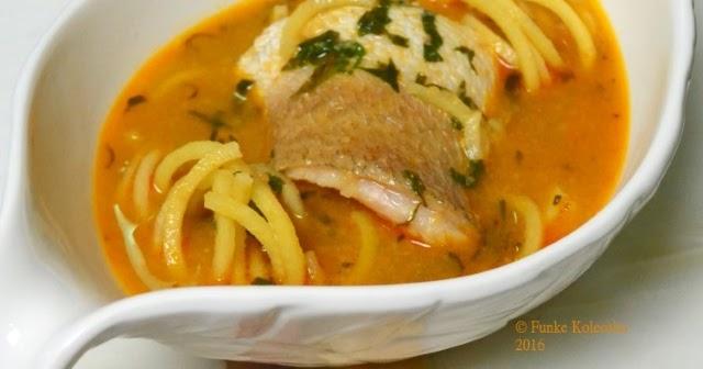 Yam Noodle & Fish Pepper Soup - Funke Koleosho's New ...
