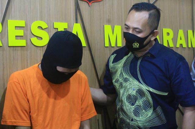Tidak Bisa Bayar Hutang , Pedagang Pakaian Online Edarkan Sabu di Mataram