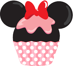 Minnie mouse cupcake rosa