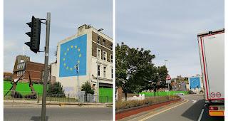 Das Brexit Mural von Banksy am Dover Port ist verschwunden | Verkauft oder kommt etwas neues darüber?