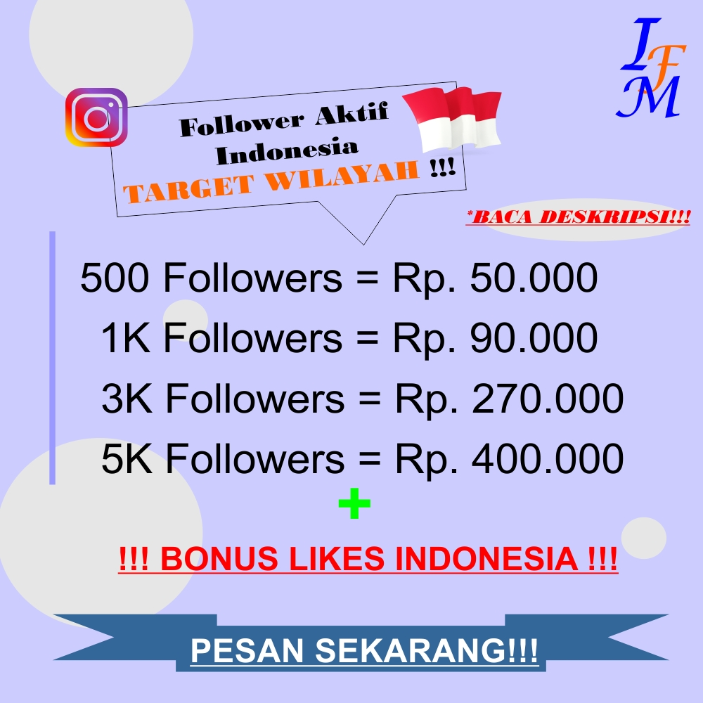 Jasa Tambah Follower Akun Instagram Aktif Indonesia Target Wilayah Murah