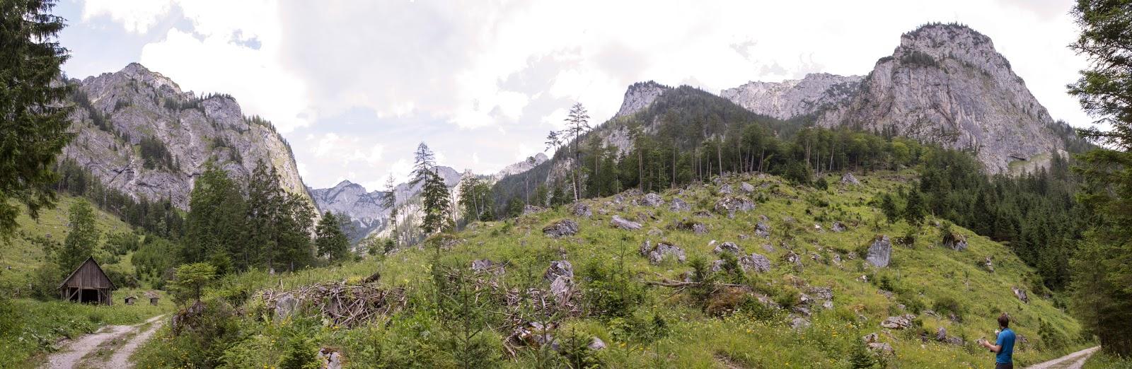 Zweitägige Wanderung von der Gsollkehre in Eisenerz über die Gsollalm zum Brandstein und weiter über Fobisalm und Hinterseeau zum Leopoldsteinersee - Seeau