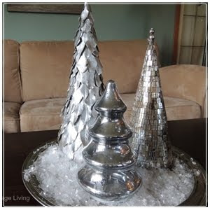 DIY  Metallic Trees