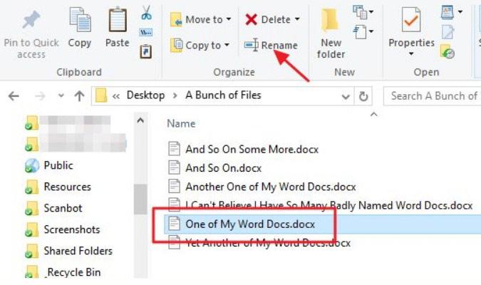 Cara Mudah Rename Banyak File Sekaligus - File Explorer