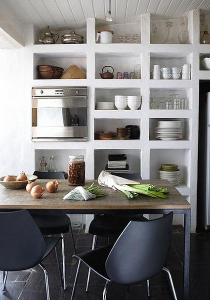 Advantages of open shelves in kitchens 4
