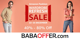 "Amazon Say For the Amazon Wardrobe Refresh Sale - ""At Amazon Fashion, our vision is to be a one-stop destination for all things stylish. Amazon Fashion offers the best of fashion and comfort: essentials for every man and woman's wardrobe. Whether you are looking for casual leisure apparel, formal ensembles, everyday accessories, trendy footwear or precious/ fashion jewelry, Amazon Fashion offers an enhanced shopping experience in a wide selection of popular brands for you to shop for yourself, friends or family. Apart from Men and Women clothing, also available are children's shoes, watches and apparel that are hip and trendy in a variety of colors and designs. In true Amazon style, trying things on and sending them back is easy with Free Shipping and free returns on eligible items. Handbags, luggage and Sunglasses add to the roster. Within this broad mix, you'll find the clothing, shoes, designer jewelry, and watches you need and want plus excellent gift ideas. Amazon Fashion also has featured brand stores that specifically offer Designer wear from marquee Indian fashion designers that cater to both ethnic and western audiences. Whether it's the latest must-have style of Jeans, an essential layering piece to wear in-between seasons, or a pair of running shoes made with the latest technology, Amazon Fashion is where its at."