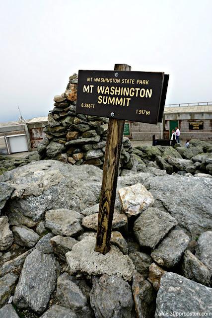 Señal de la Cima en Mount Washington, New Hampshire