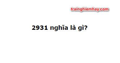 2931 nghĩa là gì? Đọc ngay nhé!