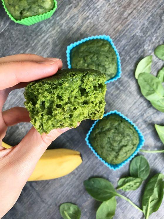 Sweet Spinach Muffins #diet #healthy