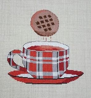 schemi a punto croce tazze -biscotti e the