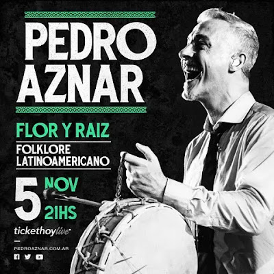 """Pedro Aznar anuncia concierto en línea """"Flor y raíz"""""""