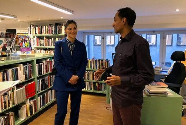 Crown Princess Victoria wore RODEJBER Zoe Blazer and darcel trousers
