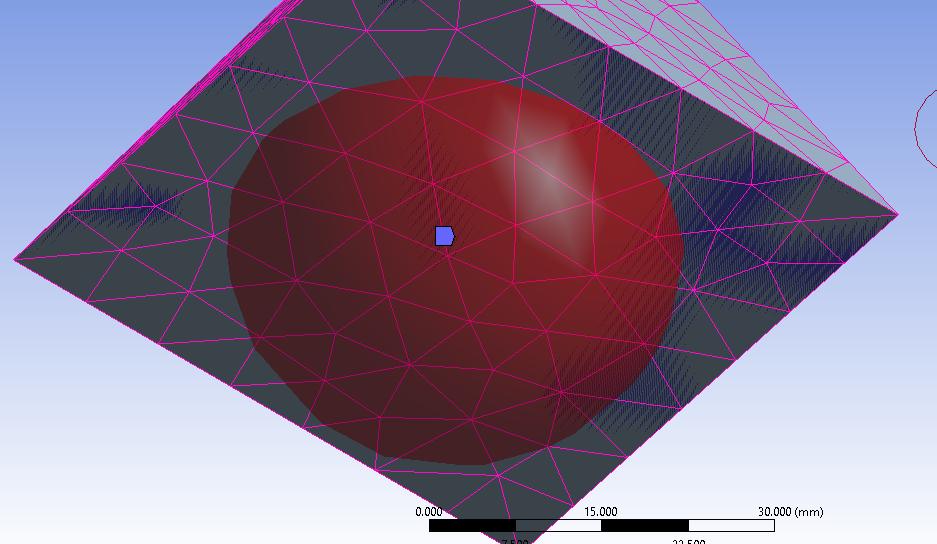 Sphere with radius = 20 mm