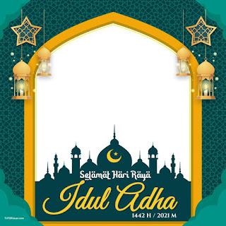 Desain Twibbon Idul Adha 1442H PSD