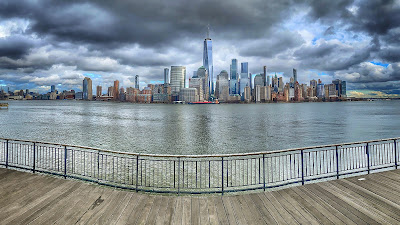 Jersey City waterfront view of NYC