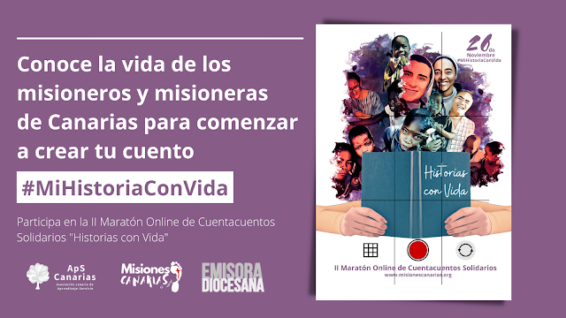 """""""Historias con Vida"""" II Maratón Online de Cuentacuentos Solidarios"""