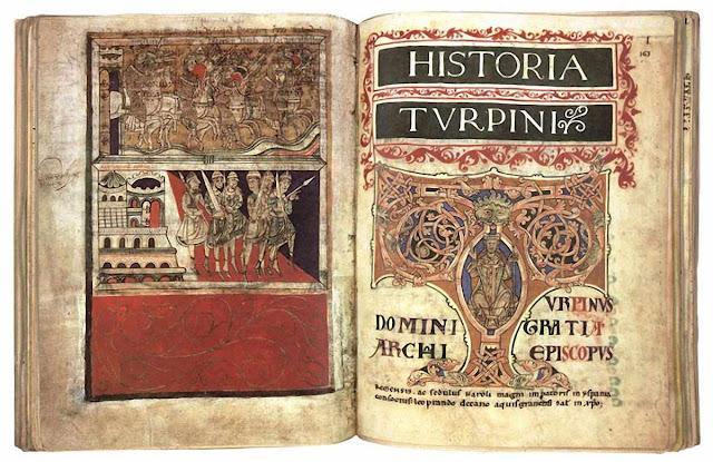 A história de Turpin, manuscrito medieval