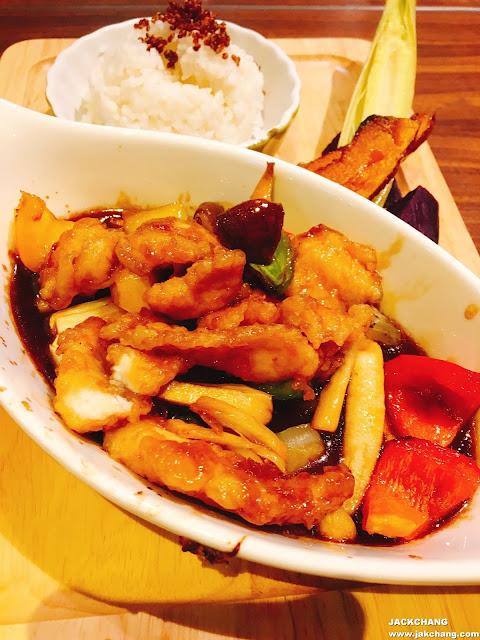 彩蔬鮮魚佐日式玄米醋醬