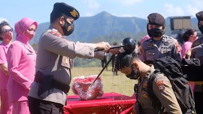 Kapolda Sulsel Pimpin Upacara Pembaretan Bintara Remaja Angkatan 45 TA.2021, Direktorat Samapta Polda Sulsel
