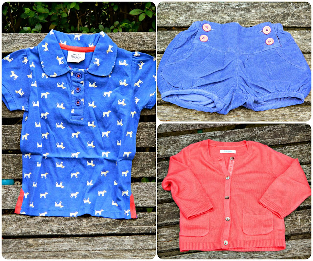 Boden Kids at eBay Polo Shirt, cardigan and bloomers shorts