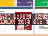 Download Aplikasi Raport Kelas 1 – 6 SD Semester 1 Kurikulum 2013 Terbaru