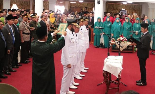 Usai Dilantik, Wali Kota Padang Panjang dan Pariaman Dukung Jokowi Dua Periode
