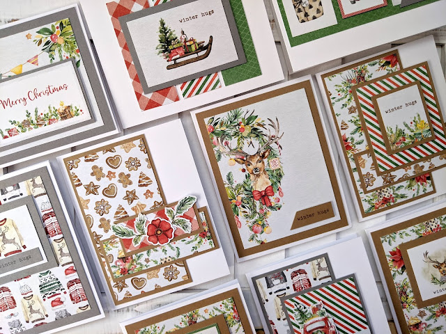 Christmas Cards with P13 Christmas Treats 6x6 Paper Pad by Jess Crafts