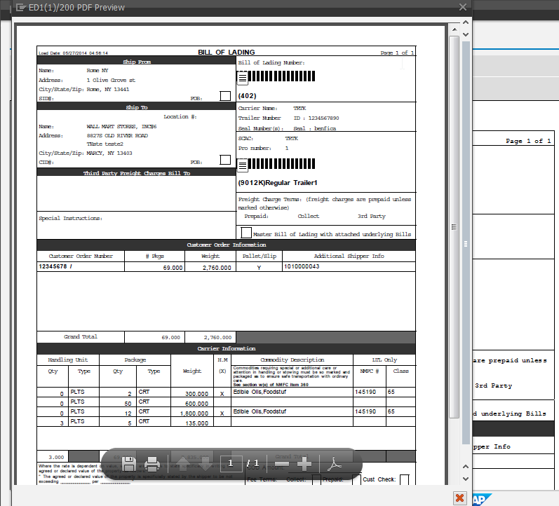 Bill Of Lading Form Sap Note: This Can Also Be Done In The SMARTFORMS  Transaction