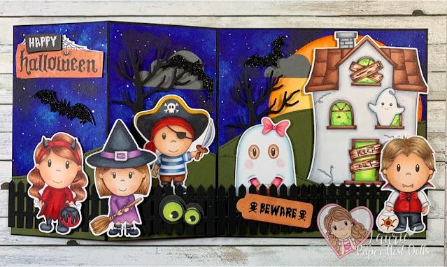 Spooky Z-Fold Halloween Card Flat