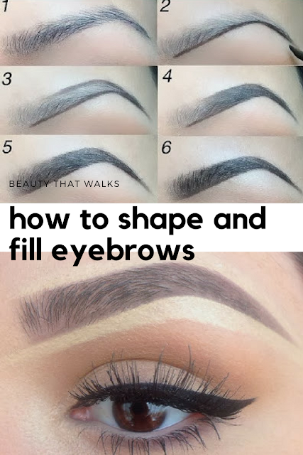 How to Shape and Fill in Eyebrows