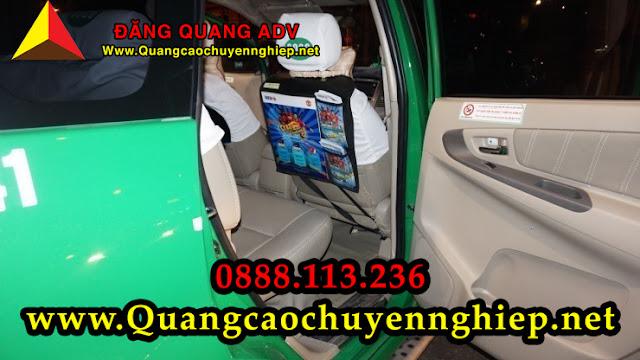 Dán quảng cáo trên Taxi phía trong lưng ghế ngồi