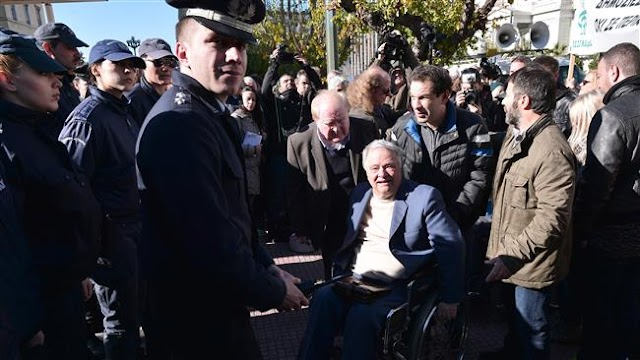 Disabled protest against austerity cuts in Athens