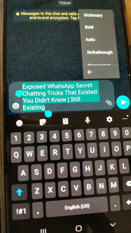 WhatsApp Font Tutorial