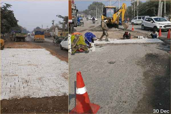 faridabad-sohna-toll-road-reliance-company-started-repair-work