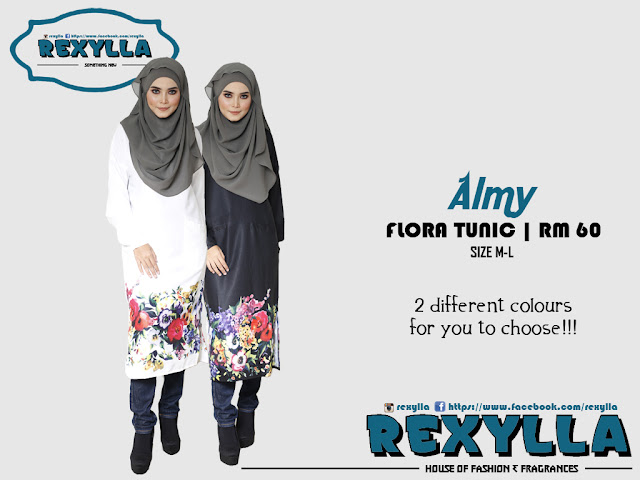 rexylla, flora tunic, almy collection