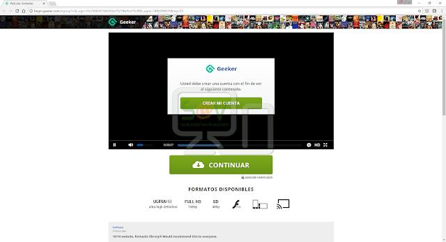 Begin.geeker.com pop-ups