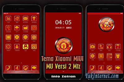 tema xiaomi manchester united the red devils