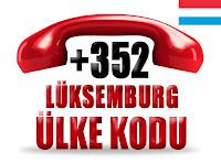 +352 Lüksemburg ülke telefon kodu