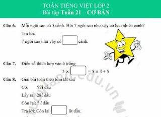 Tài liệu Toán lớp 2 Miễn phí - Tài liệu Toán lớp 2  Miễn phí - Đề thi toán Lớp 2