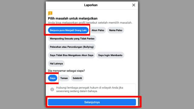 Cara Report Akun Facebook