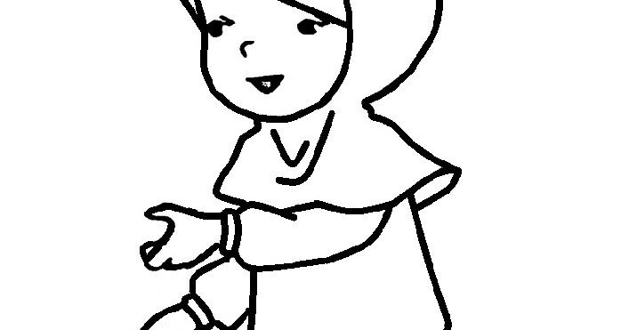 Gambar Sketsa Kartun Hijab Koleksi Gambar Animasi Hijab Syari