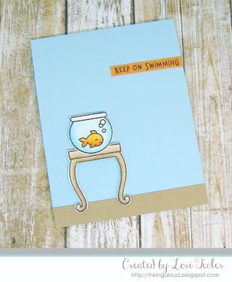 Keep on Swimming card-designed by Lori Tecler/Inking Aloud-stamps from Lawn Fawn
