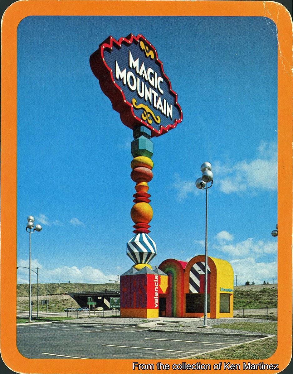 GORILLAS DON39T BLOG More Vintage Magic Mountain Postcards