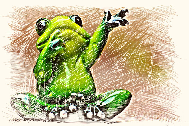 Zabawa w żabkę i bociana