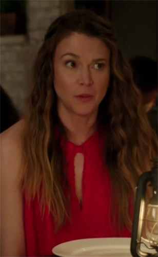 c0661b2df077 Liza Miller in red sleeveless blouse Younger Season 4 Episode 8 - TV ...