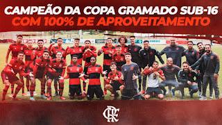 CR Flamengo Campeão da Copa Gramado Langhetto  Sub-16 de 2021