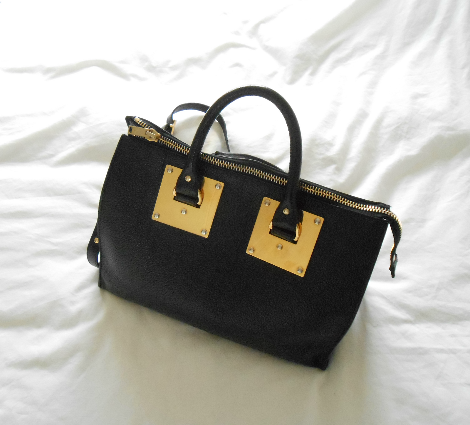 Sophie Hulme Bowling Zip Top Bag