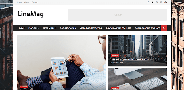 LineMag Premium Blogger Template