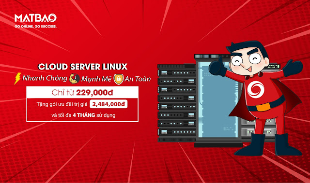 Ưu đãi khủng Cloud Server Linux Mắt Bão – Tặng gói ưu đãi 2.484.000đ và tối đa 4 tháng sử dụng