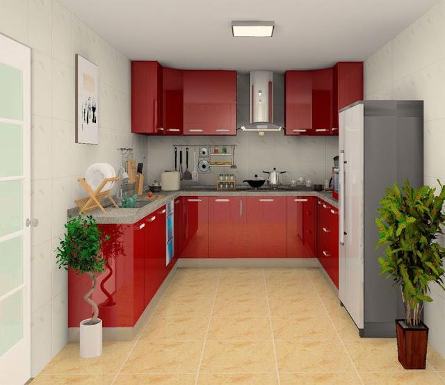 70 Desain Interior Dapur Minimalis Bentuk U Rumahku Unik